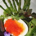 Lazackaviárral töltött tojás