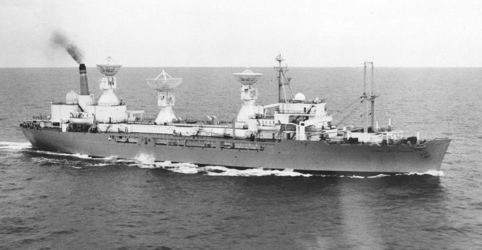 T-AGM-10 (1963-1993) USNS General Hoyt S. Vandenberg<br />A filmszereplő hajó fénykorában