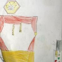 Lea királylányos meséjéhez Léna csinált illusztrációt
