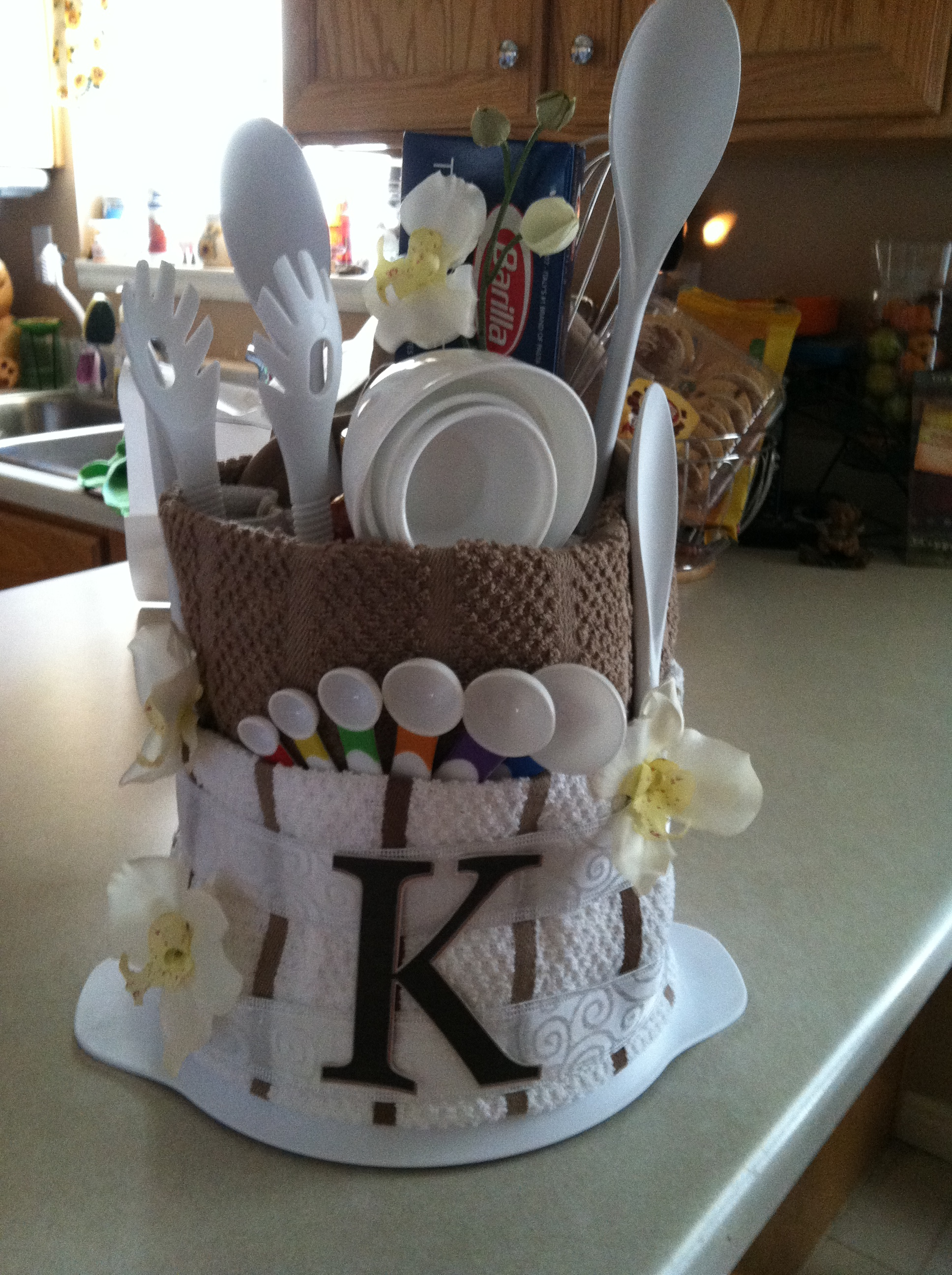 Leánybúcsú ajándék 'valami a konyhába': TÖRCSI TORTA (towel cake)