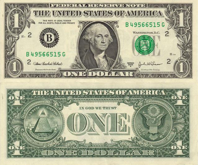 1 Dolláros bankjegy