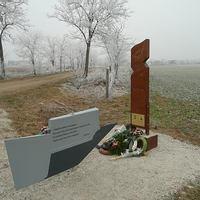 Emlékmű a beledi katasztrófának