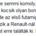 Nyilvánvalóan takarítanak a Renault-nál is