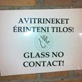 Glass no contact