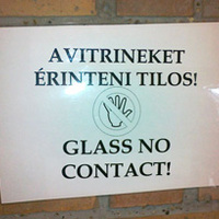 Glass no contact