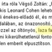 Leonard Cohen szülei nem voltak összeházasodva?