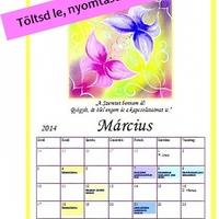 Márciusi mandala naptár