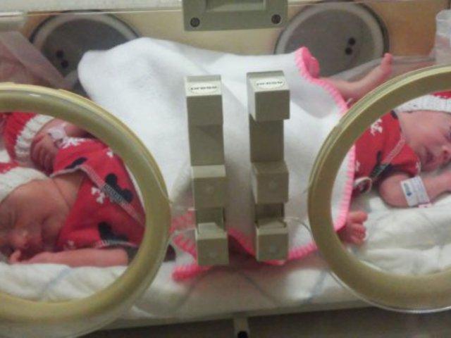 A születés csodája...amikor három kicsi szív dobog