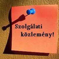 Szolgálati közlemény - Tiboru eltávon