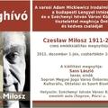 Czesław Miłosz emlékkiállítás