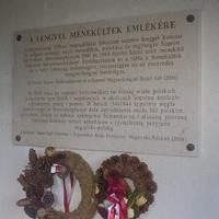 Brennbergi emléktábla koszorúzás
