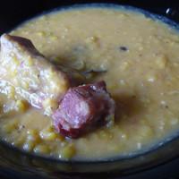 Sárgaborsó főzelék vöröslencsével (Anica subRosa)