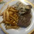 Fejedelmi duó: ribeye steak vargányával