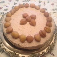 Ünnepi gesztenyés-mascarponés torta