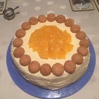 Amaretto-kekszes narancstorta