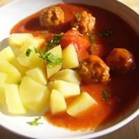 Egy békebeli étel: paradicsomos húsgombóc (AnicasubRosa)