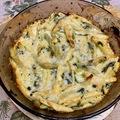 Spenótos-ricottás tészta csőben sütve