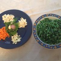Tárkonyos zöldbableves