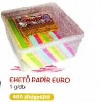 Ehető papír Euro
