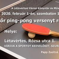 Felnőtt pingpongverseny
