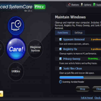Gombnyomásra gyorsulás - Advanced SystemCare Free 3.3.4