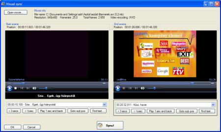 321138353d A feliratokat egyesíthetjük, illetve szét is választhatjuk, így ha nem  azonos számú lemezre készült a videó és a felirat, akkor sincsen nagy gond.