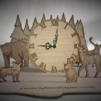 3D óra fából születésnapra