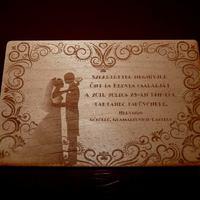 Exkluzív esküvői meghívó fából