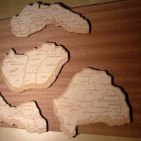 Nagy Magyarország fába gravírozva és kivágva 3D