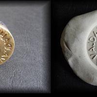 Viaszpecsét-nyomó bélyegző rézből