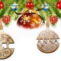 Karácsonyi fadísz egyedi névvel