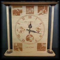 Antik hatású óra lézergravírozással