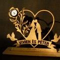 Esküvői ajándék - fa kreáció beépített órával