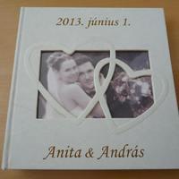 Esküvői album gravírozása