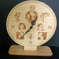 Fényképgravírozás óra formában-személyes ajándék
