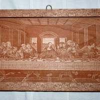 Lézergravírozás fába - Leonardo - Az utolsó vacsora
