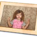 Puzzle fából - fotóval, ajándék születésnapra, évfordulóra