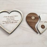 Fa Yin-yang szív ajándék a különleges alkalmakra
