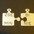 Medál puzzle rézből egyedi gravírozással