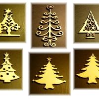 Karácsonyi díszek, dekoráció fából - lézerrel mintázva