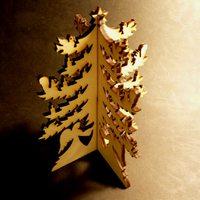 3D karácsonyi dísz fából