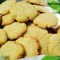 Omlós vaníliás keksz