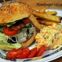 Házi hamburger-tál