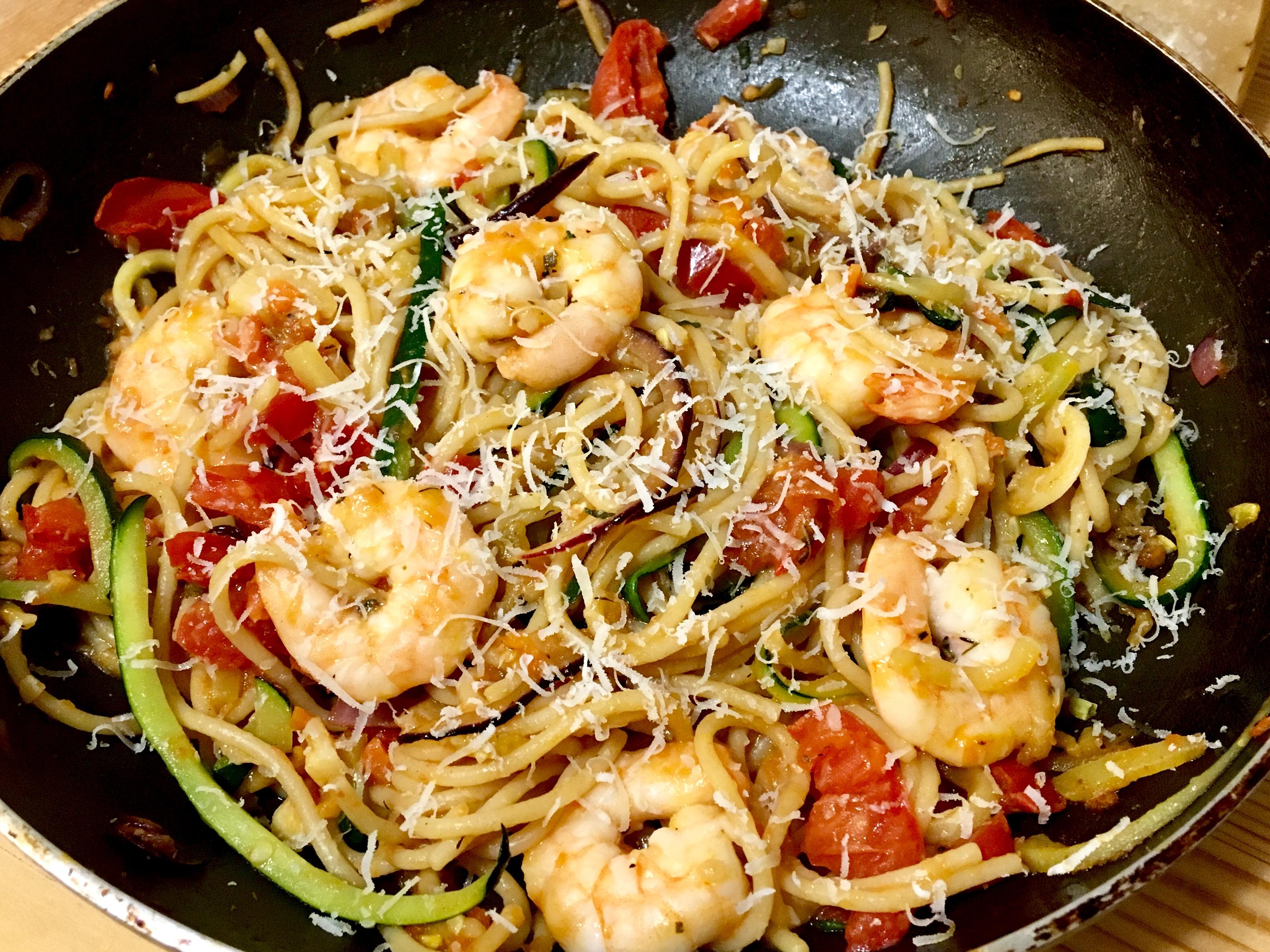 Garnélás-cukkinis spagetti