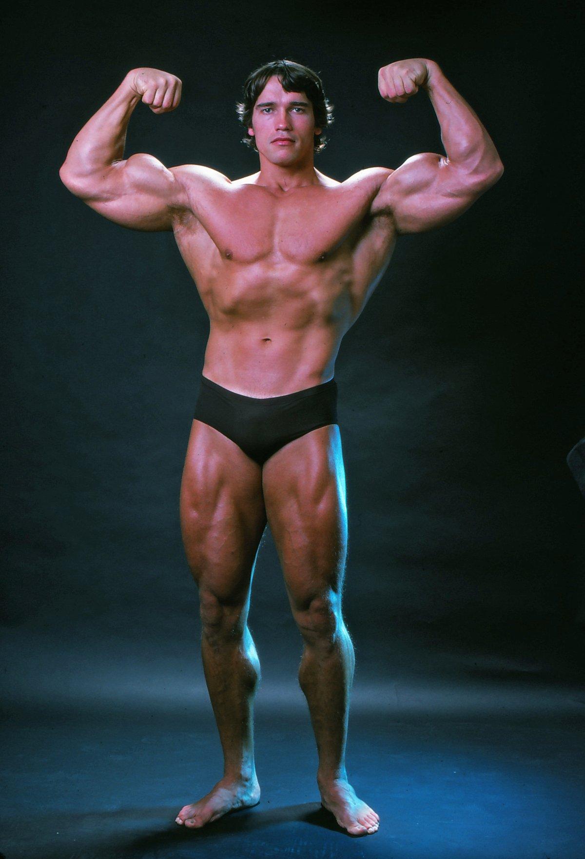 Mint például Arnold Schwarzenegger, aki nagyon jól szemlélteti az akkori kor 'tökéletes' férfiját.