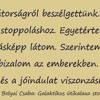 Bolyai Csaba: Galaktikus útikalauz stopposoknak – a Balkánhoz