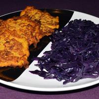 Sütőtöktócsni párolt lila káposztával – búcsú a téli zöldségektől