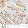 2014-es bűnözési térkép a Limanova térről