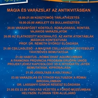 Múzeumok Éjszakája Aquincumban (Programajánló)