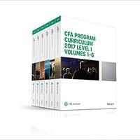 CFA Program Curriculum 2017 Level I, Volumes 1 - 6 (CFA Curriculum 2017) Ebook Rar